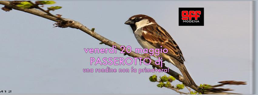 OFF Modena Passerotto dj 20 maggio copertina