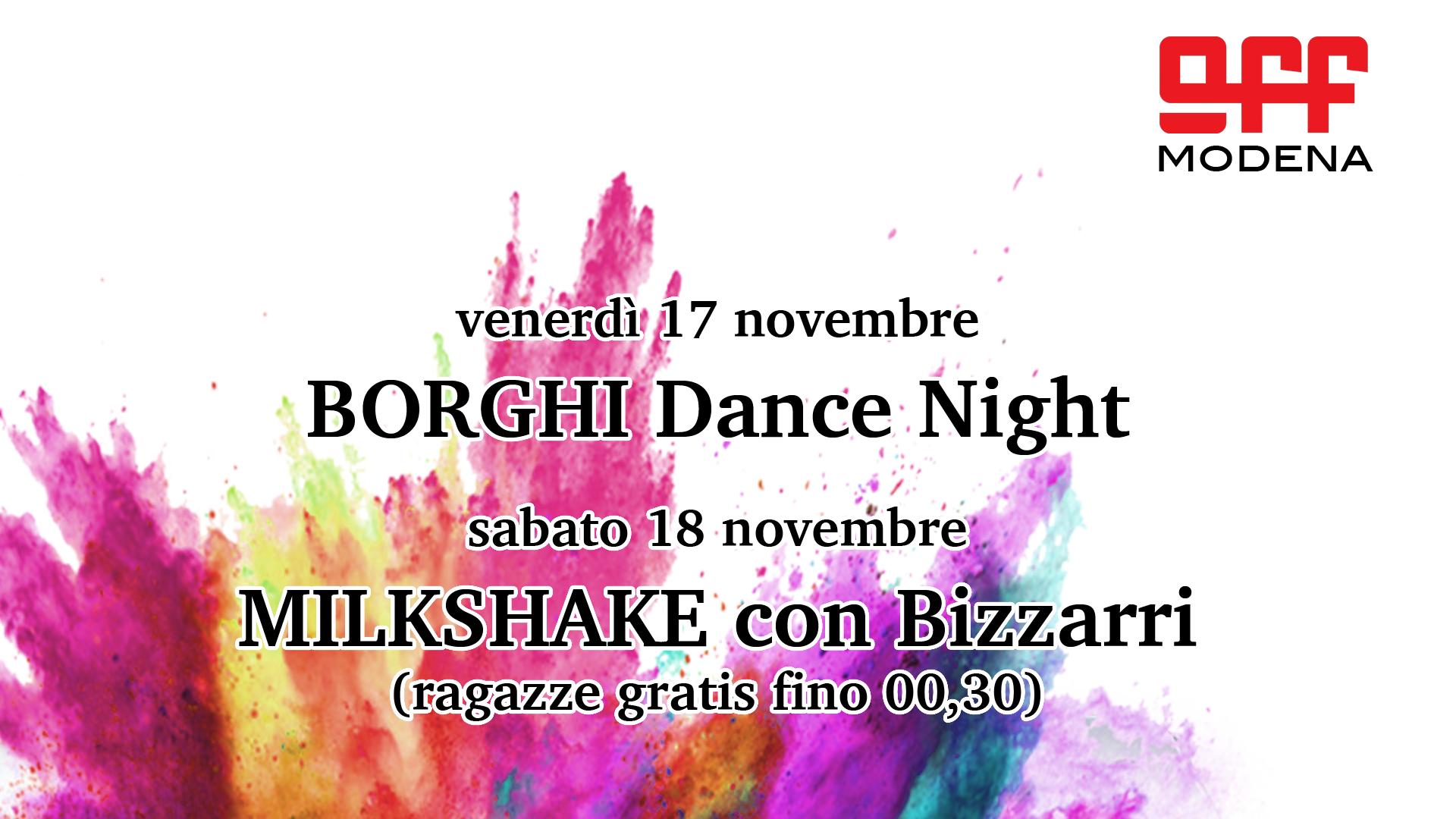 OFF Modena novembre borghi milkshake