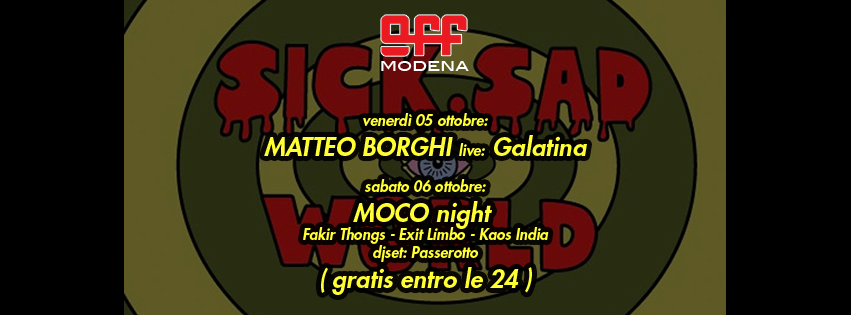OFF Modena Borghi galatina MoCo night fakir thong exit limbo kaos india passerotto