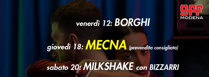 OFF Modena Borghi mecna milkshake con Bizzarri