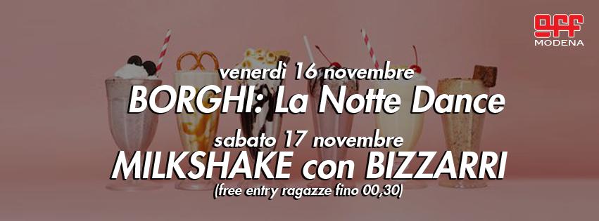 OFF Modena Borghi dance milkshake con Bizzarri