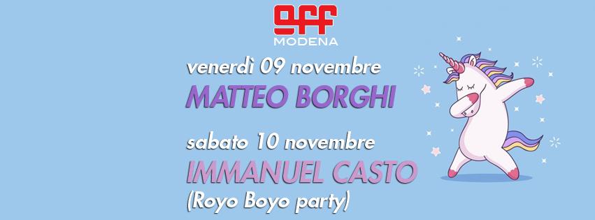 OFF Modena borghi cestari giordano royo boyo gay lesbiche lgbtqi immanuel casto