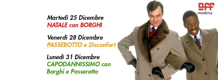 OFF Modena 25 natale con borghi 28 passerotto disconfort 31 capodanno