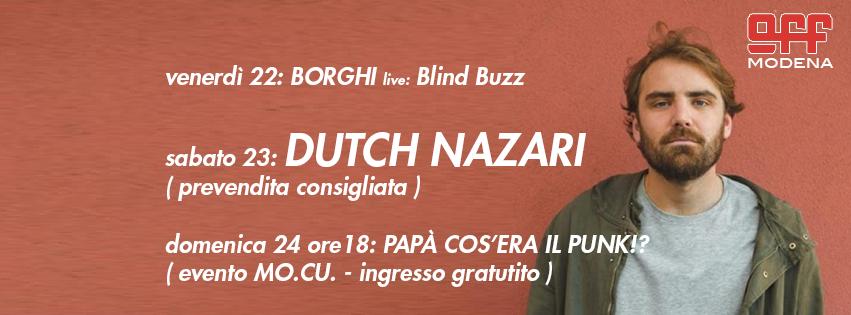 OFF Modena Borghi DUtch Nazari blind buzz glezos punk