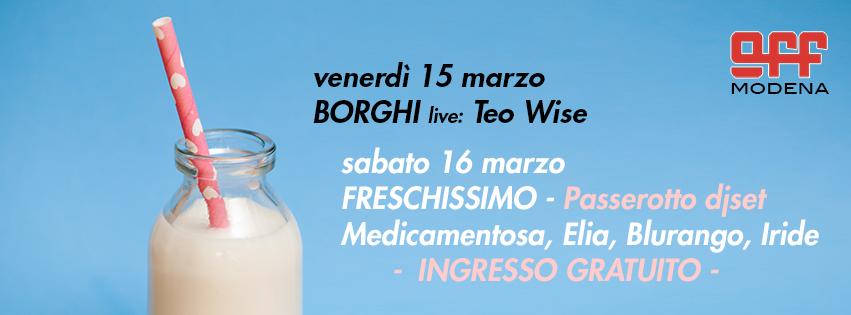 OFF Modena borghi teo wise freschissimo passerotto
