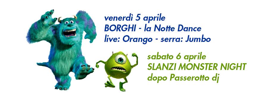 OFF Modena borghi notte danche monster slanzi night passerotto